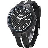 Alienwork Reloj cuarzo moda cuarzo Outdoor Silicona negro negro U90002-01