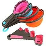Bulfyss 8PC Silicone Measuring Cups Set ...