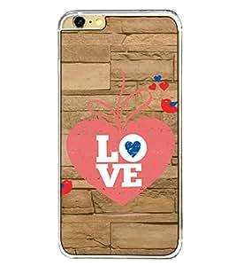 Fuson Designer Back Case Cover for Apple iPhone 6s Plus :: Apple iPhone 6s+ (love heart arrow couple wall lovebirds)