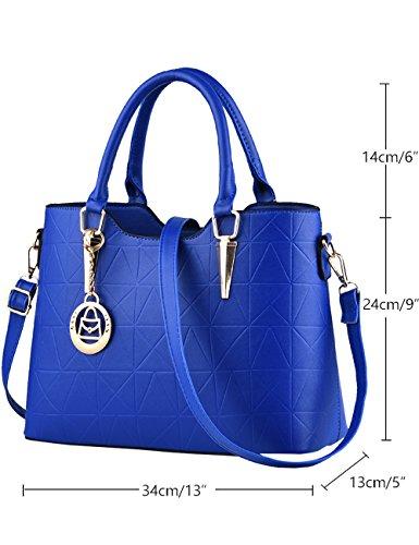 Menschwear Damen PU Handtaschen Damen Handtasche Schwarz Handtasche Schule Damen Handtaschen KhakiBlau Sky-Blau