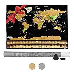 Zoegate Weltkarte zum Rubbeln Rubbelweltkarte inkl. Rubbelchip Poster XXL 83x60cm zum Freirubbeln Landkarte zum Freirubbeln Geographie Weltkarte zum Freirubbeln bereiste Länder freirubbeln