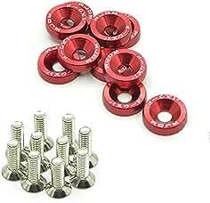 verde rojo 10 arandelas de aluminio anodizado para coche M60 tornillos de acero
