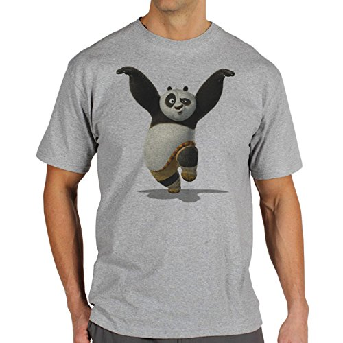 Kung Fu Panda 3 Up In Air Background Medium Herren T-Shirt (Kung Fu Panda Outfit)