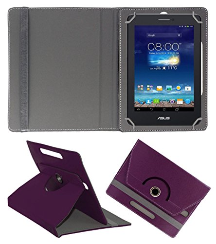Acm Rotating 360° Leather Flip Case For Asus Fonepad 7 Me175cg Tablet Cover Stand Purple  available at amazon for Rs.149