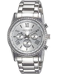 Akribos XXIV Analog Silver Dial Men's Watch-AK868SS