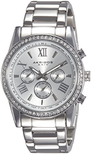 5121j6sPFOL - AK868SS Akribos XXIV Silver Mens watch