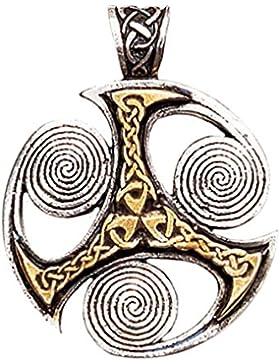 Halskette Triskilian Keltischer Anhänger Amulett Schmuck - Optimismus und Fortschritt - 04
