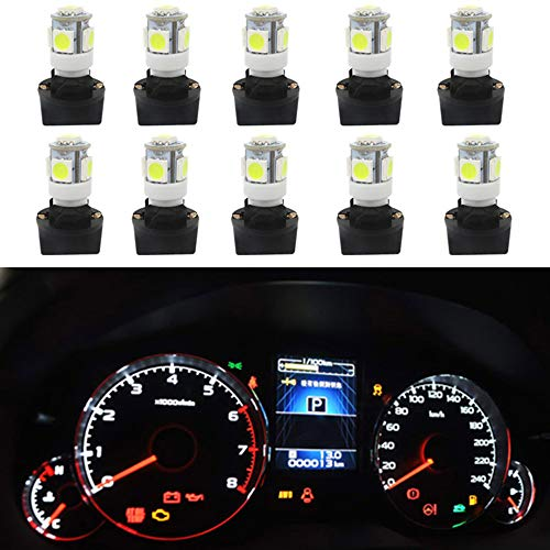 WLJH Lot de 10 ampoules LED T10 194 168 LED PC194 PC195 PC160 PC161 PC168 pour tableau de bord automobile Multi usages Blanc