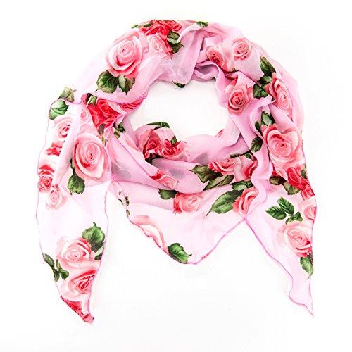 MANUMAR Schal für Damen einfarbig   Hals-Tuch in Rosen rosa als perfektes Herbst Winter Accessoire   Klassischer Damen-Schal   Stola   Mode-Schal   Geschenkidee für Frauen und Mädchen