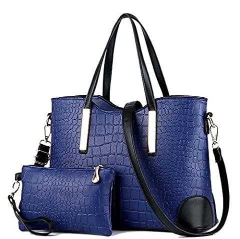 C.CHUANG Simple Noble Two Pieces Tote Shoulder Crossbody Bag(C7)