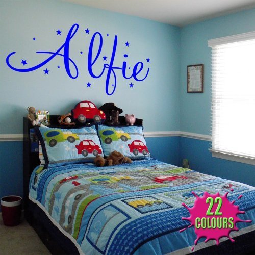 Personalised Name With Stars - Wall Decal Art Sticker playroom bedroom nursery (Medium) by Wondrous Wall Art
