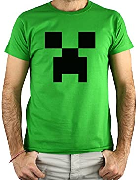 PLANETACAMISETA Camiseta Videojuego Creeper