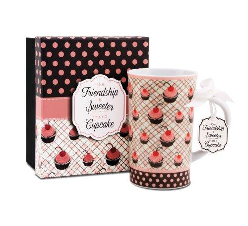 Jessie Steele 49029 You & Me 4-3/4-Inch Cherry Cupcake Mug, Friend, 12-Ounce by Jessie Steele Jessie Steele Cherry Cupcake