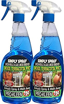 Simply Spray & Walk Away 2 x 750ml Ready to Use Moss and Algae Remover (Suitable for PVC, Garden Furniture and Decking)