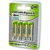 H+H - Batteries et chargeurs - 4x NiMH Mignon AA batterie 2600 mAh