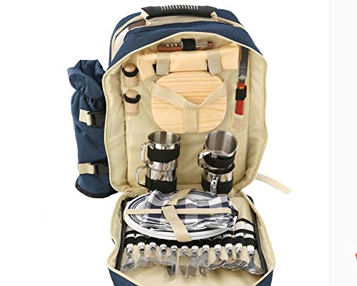 LightInTheBox Wearable Camping Cooler 4 Person Picnic Backpack with Cutlery Set for Picnic, Outdoor, Sports, Hiking, Camping, BBQs, Cooler