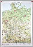 Übersichtskarte Deutschland 1:750000: Wandkarte plano, gerollt im Köcher (Deutschland-Wandkarten 1:750 000)