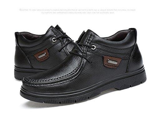 Zq @ Qx Tendances De La Mode D'hiver Martin Chaussures Chaudes Hommes Grandes Bottes Chaussures Hommes Chaussures Noires Plus Coton