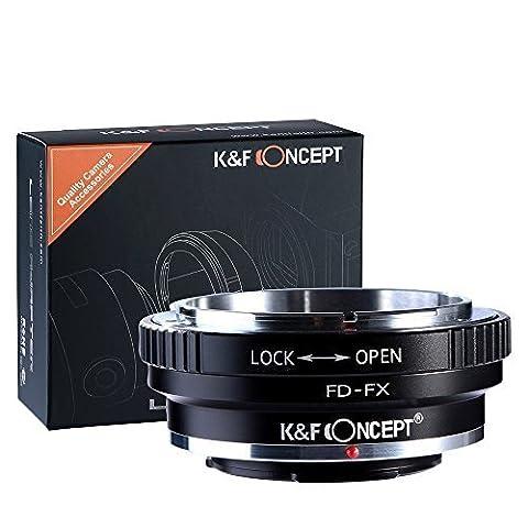 K&F Concept Canon FD - Fuji FX FujiFX FujiX Fujifilm FX bague d'adaptation montage d'objectif caméra adaptateur x100 a1 x-X-E1, X-E2, M1 A2 X X-Pro1 Pro2 X-S1 x-T1 x T10 x-T2 x10 x20 x30 X70 XF1 XQ1 xq2 X-Series T20 G Lens baïonnette
