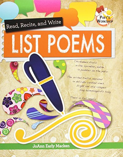 Read Recite and Write List Poems (Poets Workshop)