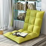 lanrenyi Faule Couch, Tatami Balkon Klappkissen Sofa Stuhl, Klapp-Einzel-kleinen Schlafsofa Stuhl 6-Gang-Einstellung Schonbezug abnehmbar und waschbar (Farbe : Grass green)