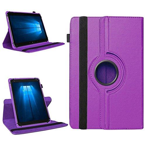 NAmobile Tablet Tasche für Odys Cosmo Win X9 Hülle Schutzhülle Case Cover 360° Drehbar, Farben:Lila