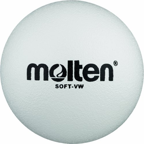 Molten Soft-VW - Pelota blanda de voleibol (210 mm), color blanco