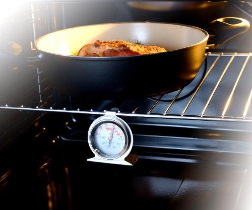 Rosenstein & Söhne 2in1 XL Braten- und Ofen-Thermometer für Gar- & Backofentemperatur - 4