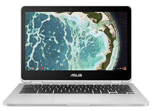 "ASUS - Flip C302CA 2-in-1 12.5\"" Touch-Screen Chromebook - Intel Core m5 - 4GB Memory - 64GB eMMC Flash Memory - Silver"