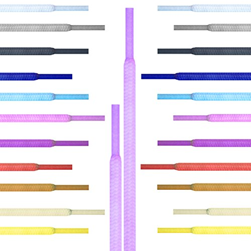 Runde Schnürsenkel Giftware Turnschuhe, Hi-tops Fußballschuhe Laces Schnürsenkel, geeignet für alle Marken, darunter Nike Adidas Converse Puma Vans Reebok Dr Martens Erwachsene oder Kinder (Über Top Lace)