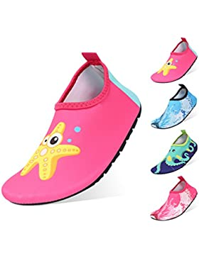Zapatos de Agua Niño QIMAOO Zapatos de Agua de Natación Niños Zapatos de Playa para Niños Descalzo Barefoot Agua...