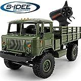 s-idee® 18139 B24 Militär Truck 4WD 2.4 Ghz RC R/C Ferngesteuerter Laster, Tank, Kettenfahrzeug, Monster Crawler LKW 1:16, Neu