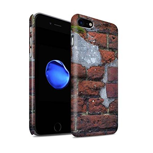 STUFF4 Matte Snap-On Hülle / Case für Apple iPhone 8 / Blass/Weiß Muster / Mauerwerk Kollektion Zement/Rot