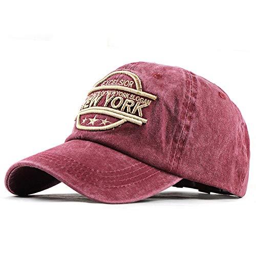 jfhrfged Unisex Baseball Cap Denim Letter Baseball Caps Trucker Cap Cotton Snapback Hat Sun Hat for Women Men or Children for Sports and Travel (Rot) -