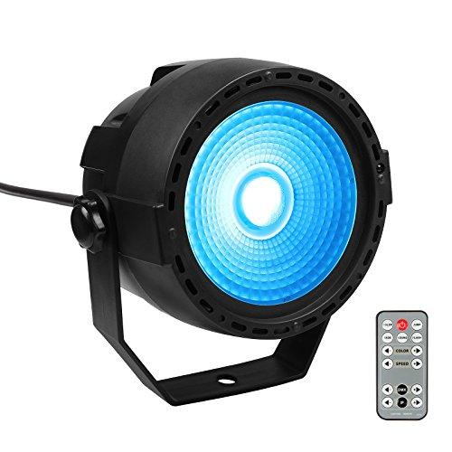TSSS COB RGB LED Par Licht 15W 3-Farben DMX Controller Bühnenbeleuchtung Party DJ Bar Lichteffekt Projector mit Fernbedienung -