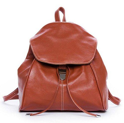 DJB/ Retro-Handtaschen aus Leder Rucksack Brown