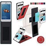 Funda para Goophone X3 en Cuero Rojo - Innovadora Funda 4 en 1-Anti-Gravedad para Montaje en Pared, Soporte de Tableta en Vehículos, Soporte de Tableta - Protector Anti-Golpes para Coches y Paredes sin necesidad de herramientas o pegamento - Funda de Reboon para Goophone X3 Original