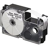 Casio XR-12TWE Thermal Paper Label Printer Tape (Black and White)