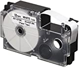 #7: Casio XR-12TWE Thermal Paper Label Printer Tape (Black and White)