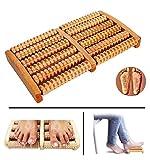 #7: Trexee Wooden 6 Roller Foot Feet Massager Body Stress Acupressure Acupuncture Foot Massager