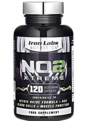 NO2 Xtreme: 2500mg | Nitric Oxide Pump Maximiser | Pre-Workout | 120 Capsules by LYON FITNESS
