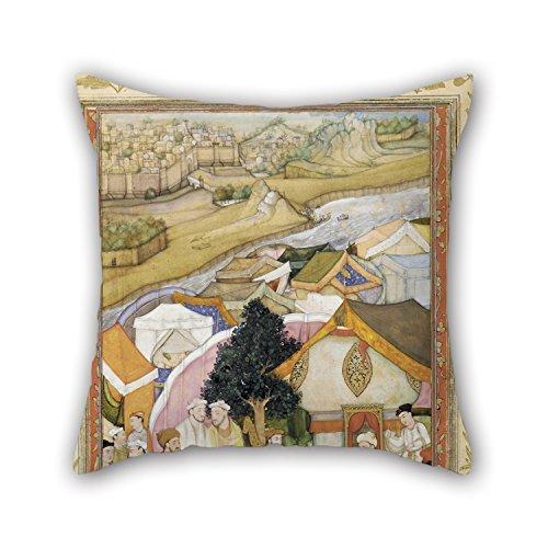 45,7x 45,7cm/45von 45cm Ölgemälde, hiranand–Illustration aus ein Wörterbuch (Unbekanntes)-DA Muhammad erhält einen Bademantel of Honor aus Mun 'llah Khan Kissen jeder Seite ist für