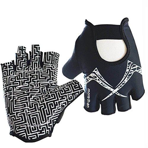 Guantes de fitness la mitad Dedos Guantes de deporte guantes de entren