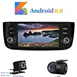 Android 8.0 Car Autoradio, Hi-azul In-dash 1 Din 6,2 Zoll 8-Core 64Bit RAM 4G ROM 32G Car Radio Autonavigation Kopfeinheit Car Audio für Fiat Grande Punto/ Fiat Linea (mit Rückfahrkamera und DVR)