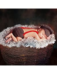 Happy Elements 2PC Appena Nati dei ragazzi delle neonate Crochet Knit fotos fotografía Prop disfraz Outfit