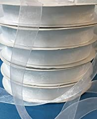 Idea Regalo - Nastro in organza Color Bianco 20mm x 100 mt