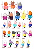 New Brand Peppa Pig Figures Set Family 25 PCS Different Best Model Figure Toys For Kids