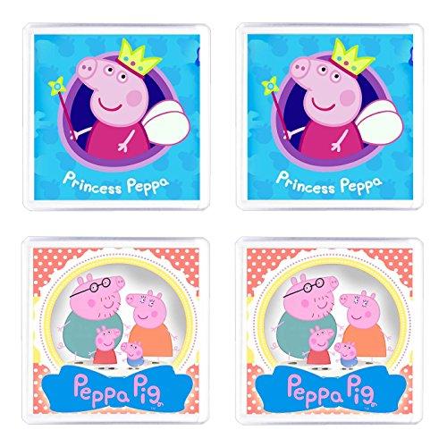 Set di 4 Sottobicchieri Peppa Pig