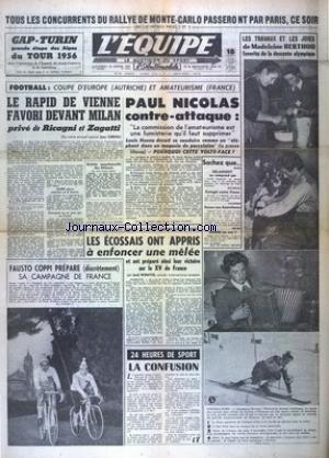 EQUIPE (L') [No 3044] du 18/01/1956