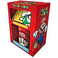 Coffret cadeau - Mug, Dessous de Verre, Porte-Clef - Super Mario